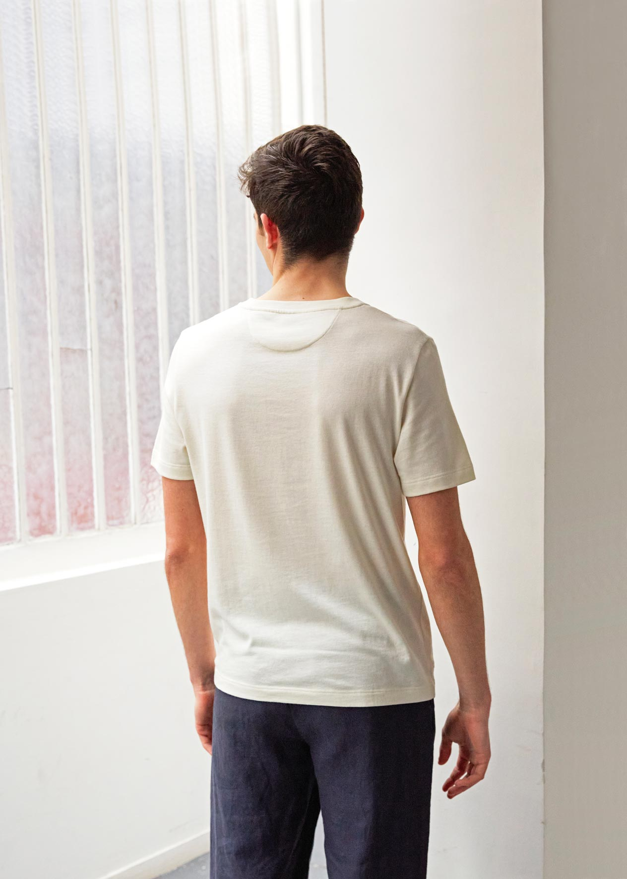 Essential t-shirt - Organic cotton jersey - Ecru - De Bonne Facture
