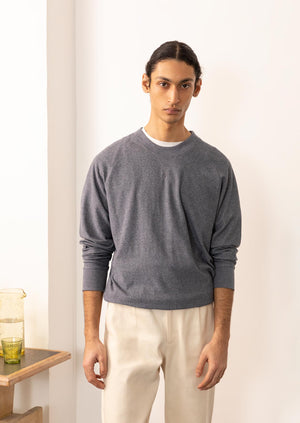De Bonne Facture - Sweatshirt - Organic cotton pile - Blue