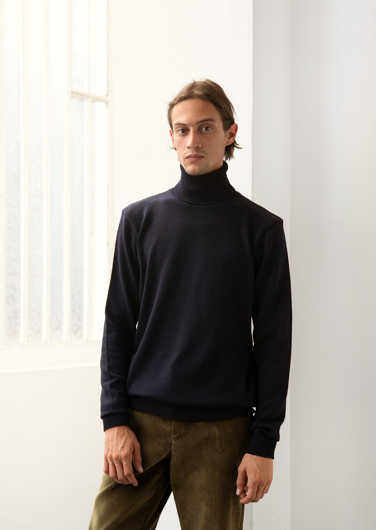 De Bonne Facture - Turtleneck knit - Merino wool - Navy