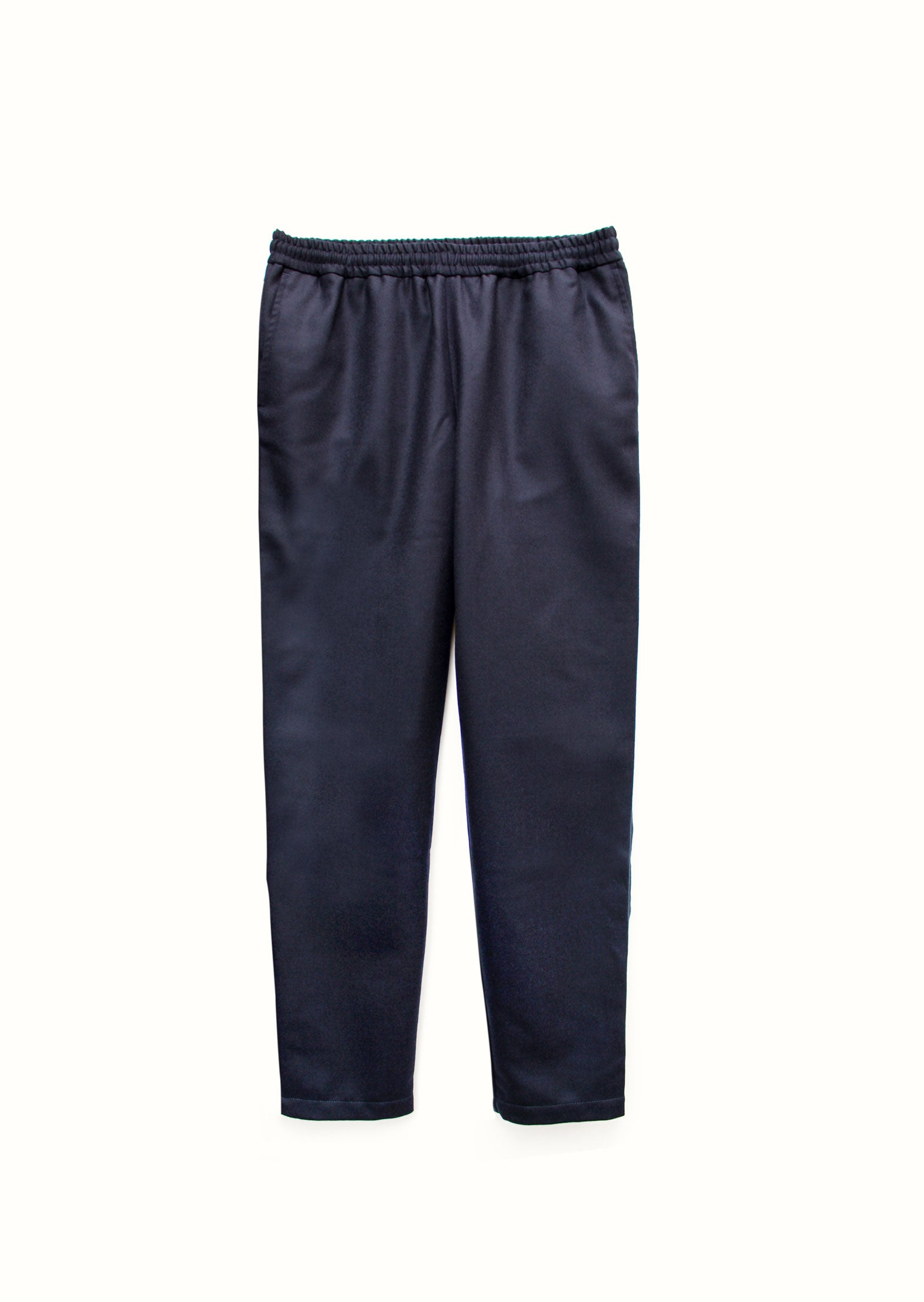 Relaxed trousers - Japanese wool twill - Navy - De Bonne Facture