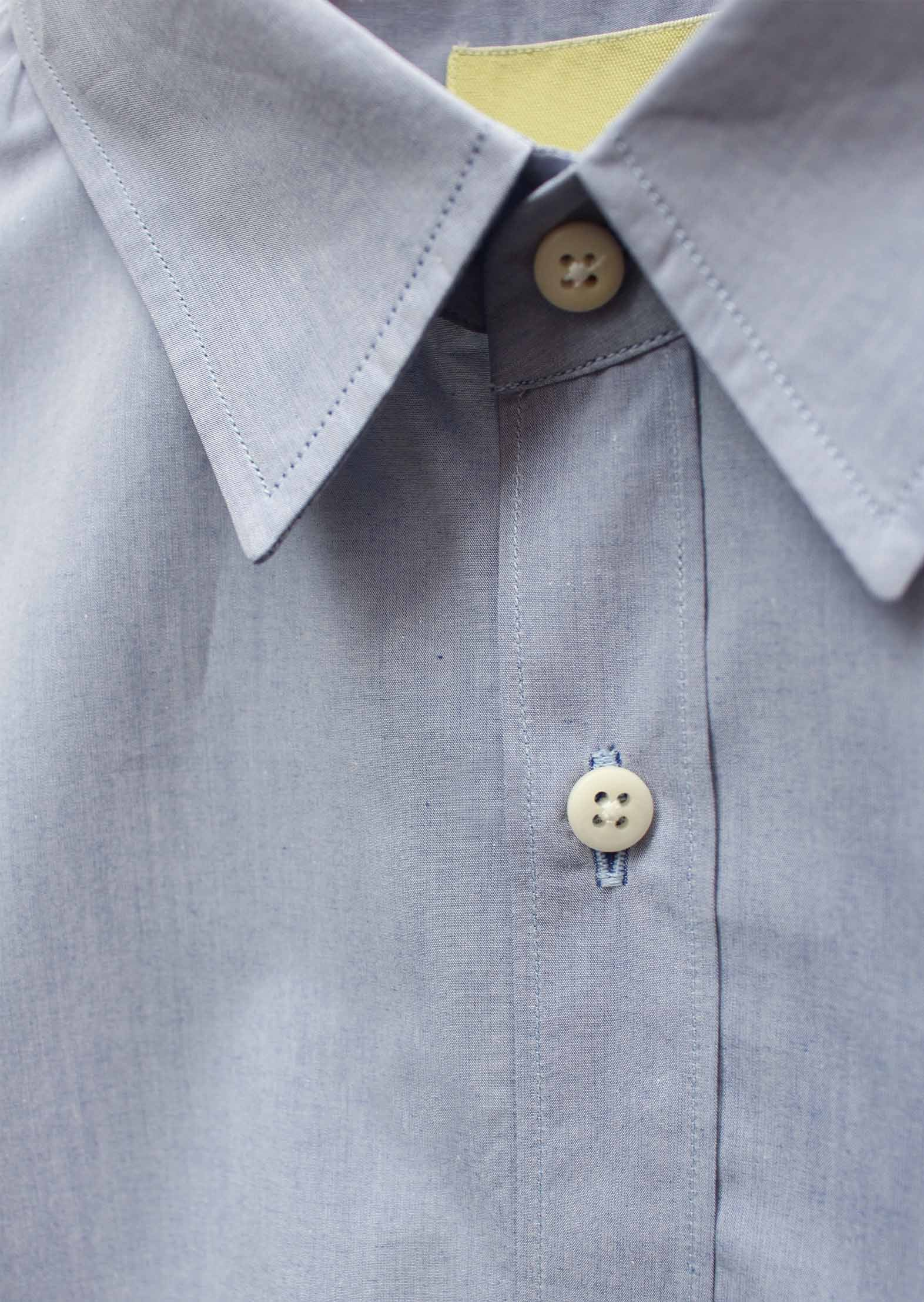 Essential shirt - Japanese paper crisp cotton - Sky blue - De Bonne Facture
