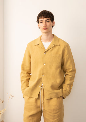 De Bonne Facture - Painter's jacket - Belgian washed linen - Straw