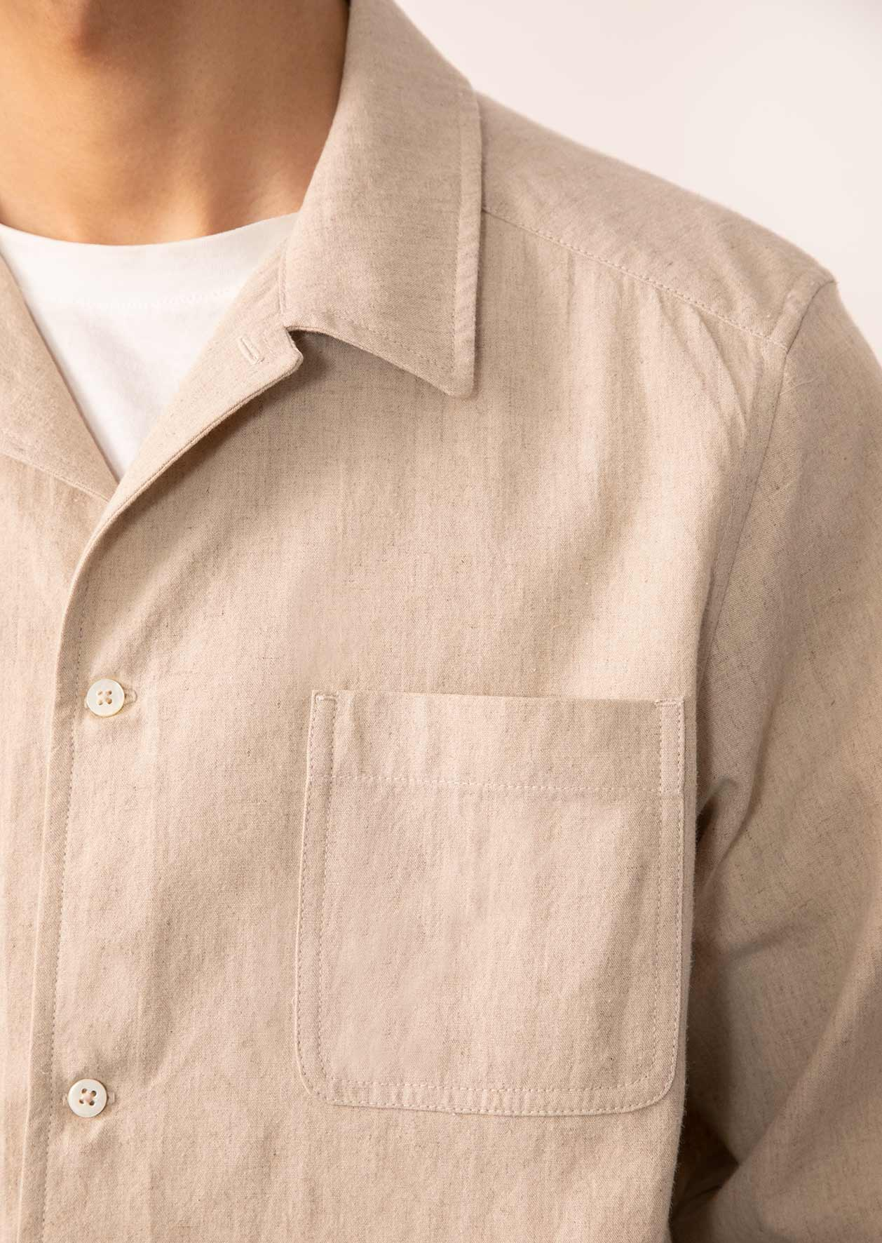 De Bonne Facture - Painter's jacket - Japanese linen & cotton - Beige
