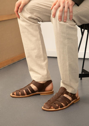 De Bonne Facture - Sandals - Oiled calfskin - Chocolate