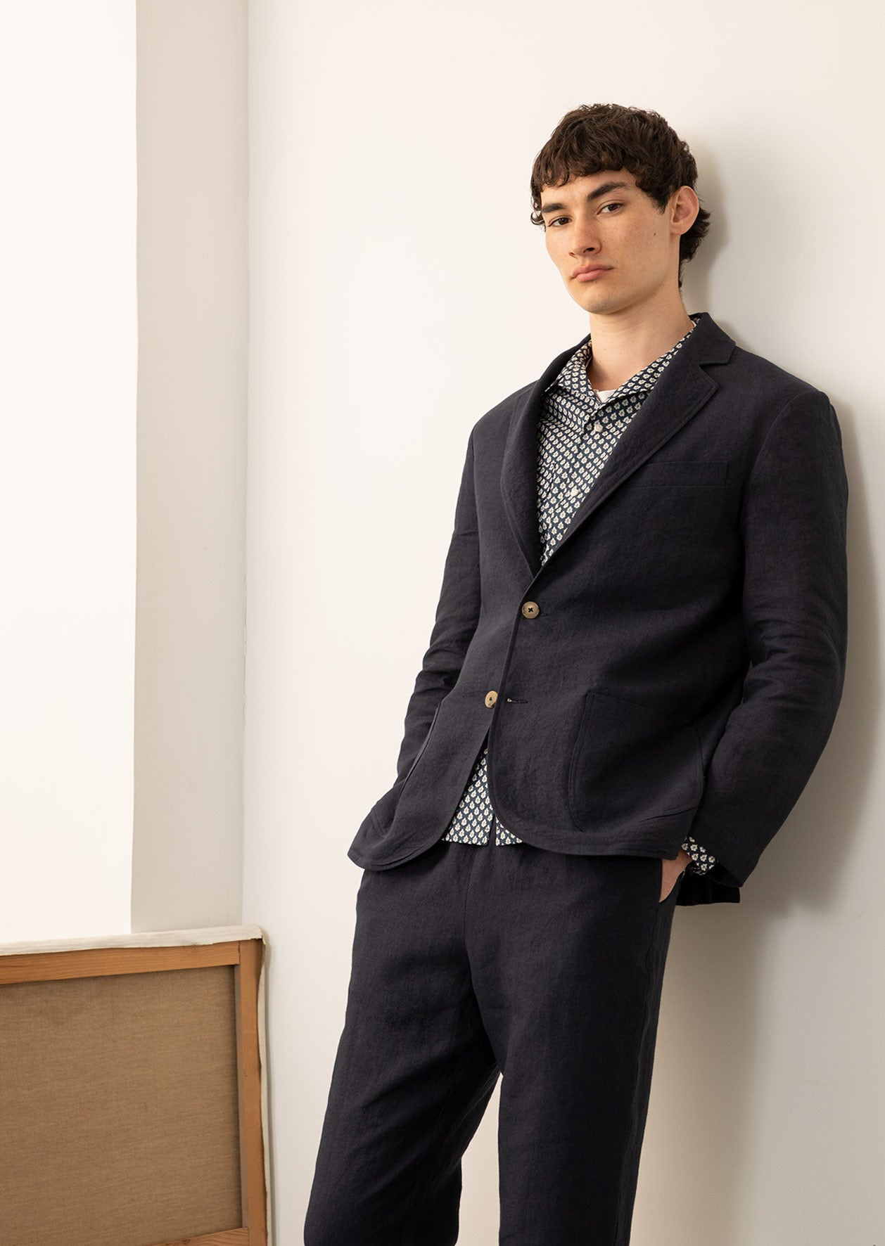 De Bonne Facture - Sports jacket - Belgian washed linen - Navy
