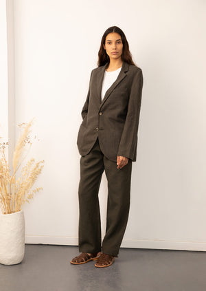 De Bonne Facture - Tailored jacket - Belgian washed linen - Arabica