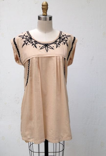 TABLA EMBROIDERED TUNIC OR SHORT DRESS