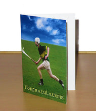 Load image into Gallery viewer, Hurling Themed Congratulatory Card