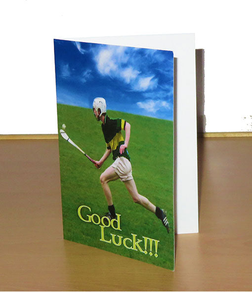 Hurling Themed 'Good Luck' Card