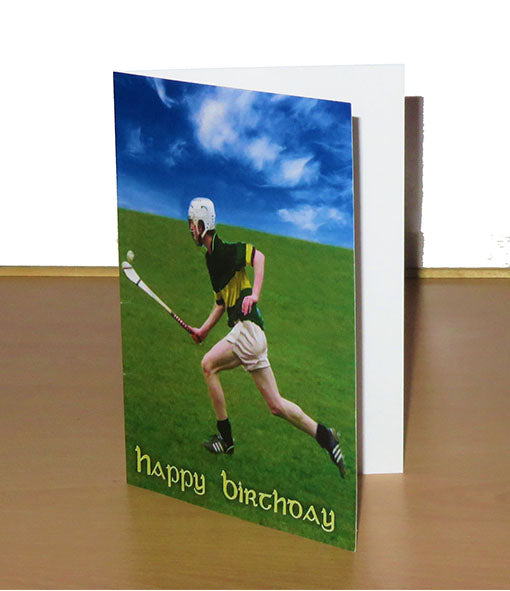 Hurling Themed Birthday Card