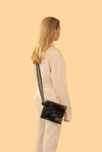 Reflective Cross Body Bag Black