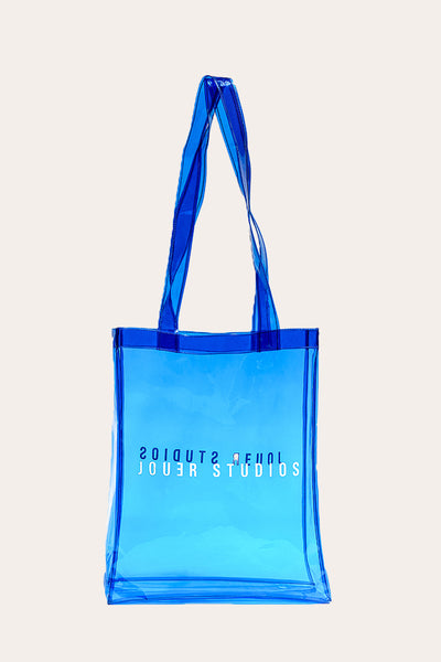 The Transparent Tote Sea Blue