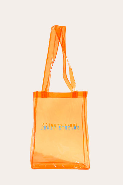 The Transparent Tote Mandarin Orange