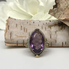 handcrafted amethyst ring