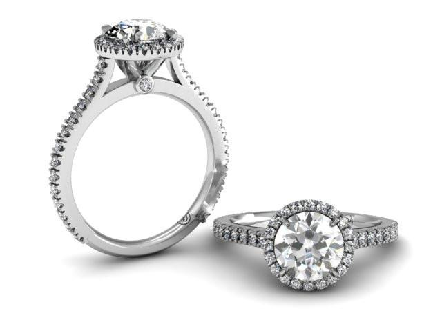 Bostonian Adrainne - Custom Engagement Ring - Pave Setting - Bostonian Jewelers Boston Jewelers