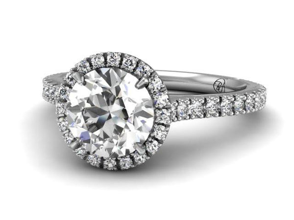 Bostonian Adrainne - Custom Engagement Ring - Pave Diamonds - Bostonian Jewelers Boston Jewelers
