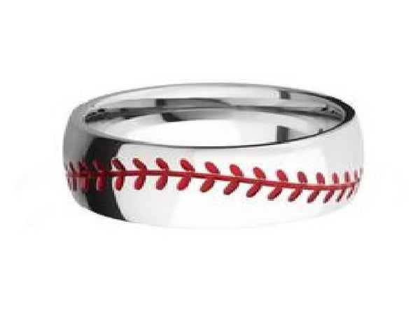 Unique Baseball Ring Wedding Band Lashbrook Designs - Bostonian Jewelers Boston Jewelers