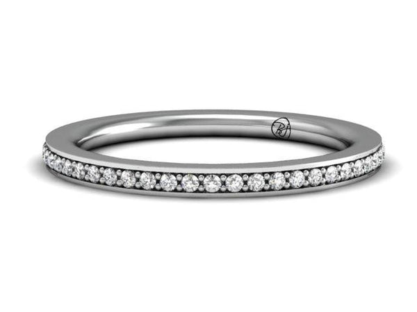 Slim Pave Diamond Skinny Band Boston Jeweler
