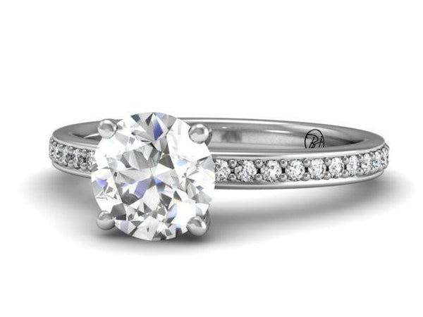 Bostonian Brighton - Classic Diamond Setting - Custom Engagement Rings - Boston Jeweler