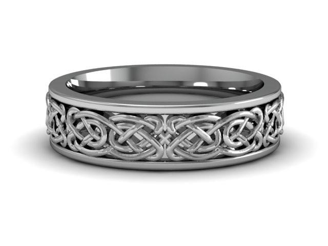Celtic Knot | 14k White Gold | Comfort Fit | 6mm