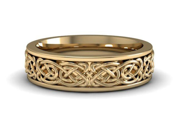Celtic Knot | 14k Yellow Gold | Comfort Fit | 6mm