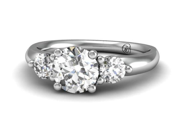 Bostonian Claremont Three Stone Ring - Custom Engagement - Bostonian Jewelers