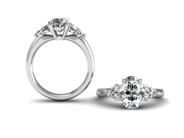 Bostonian Delana - Custom Oval Engagement Ring - Bostonian Jewelers