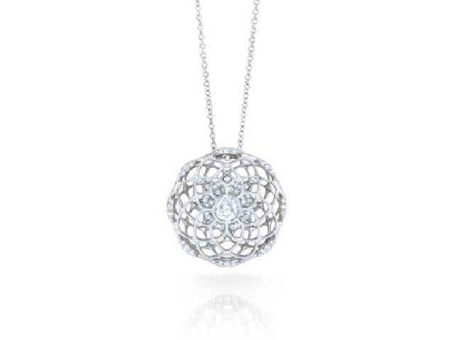 Unique Kaleidoscope Diamond Pendant Necklace - Bostonian Jewelers