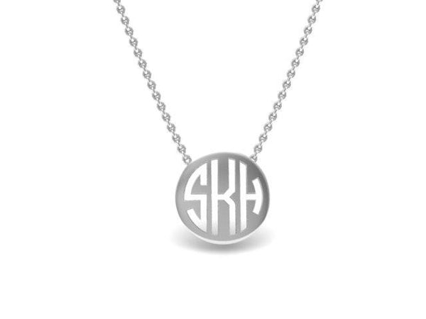 Mini Monogram Custom Pendant Necklace -Unique Gifts - Bostonian Jewelers