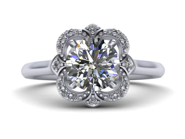 Elizabeth Halo - Unique Engagement Ring