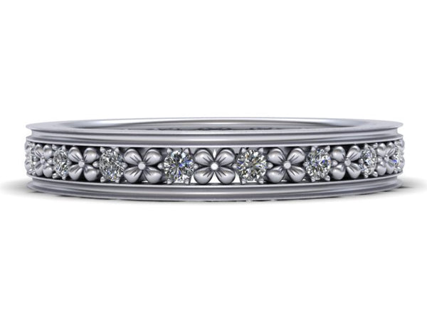 Flora Diamond Eternity Band - Outlined