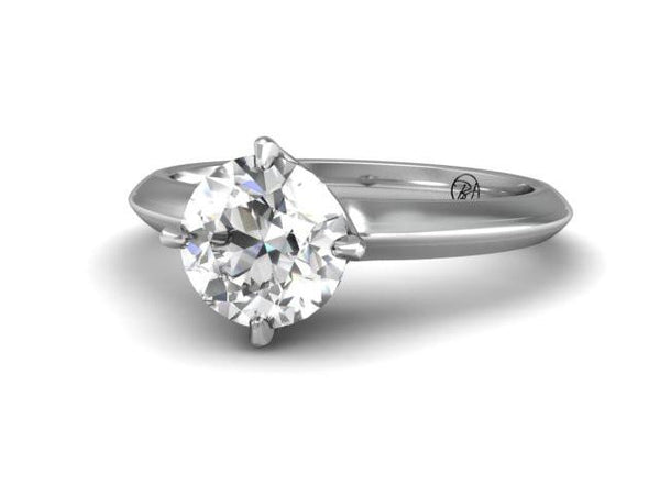 Classic Solitaire Four Prong Engagement Ring - Bostonian Jewelers