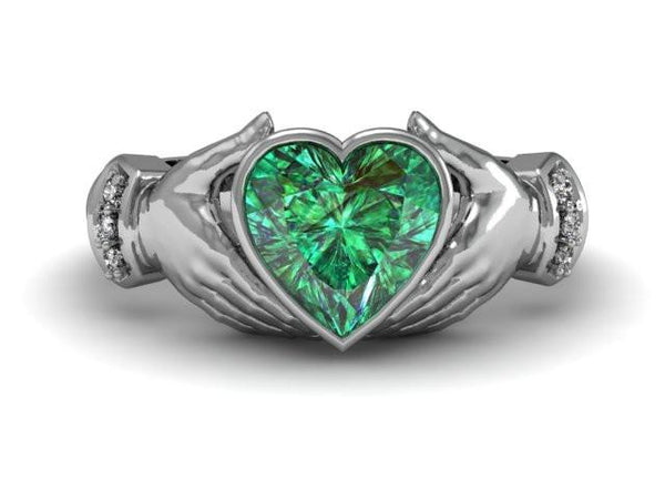 Heart in My Hands Claddagh Ring