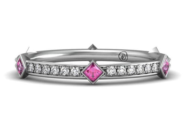 Jayine Band Custom Design - Unique Stacking Wedding Ring - Bostonian Jewelers