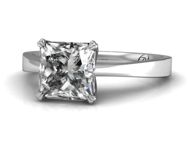 Classic Princess Cut Solitaire Engagement Ring - Bostonian Jewelers