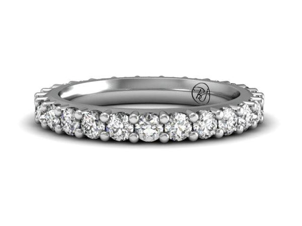 Classic Shared Prong Diamond Band Unique Boston Jewelry
