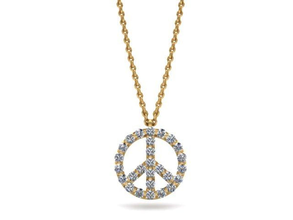 Peace To All Diamond Pendant