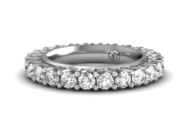 Shared Prong Custom Diamond Ring Boston's Best Jeweler