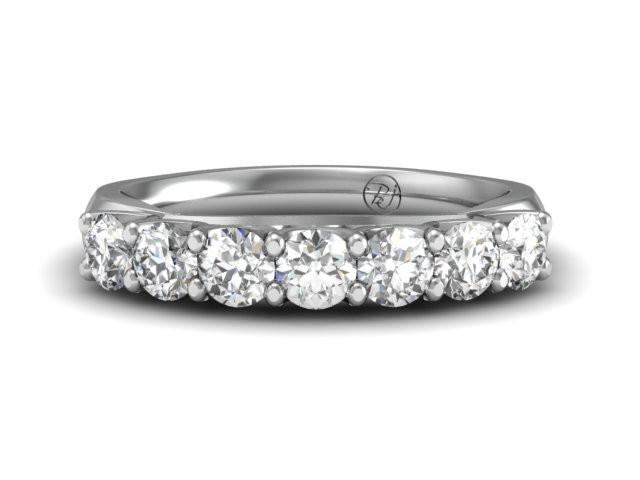 Shared Prong Diamond Ring Custom Diamond Band Boston Jewelers