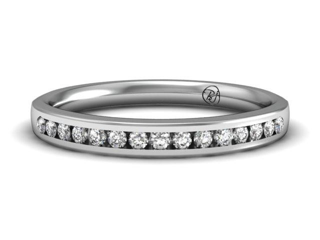 Diamond Channel Eternity Ring Classic Boston Jewelers