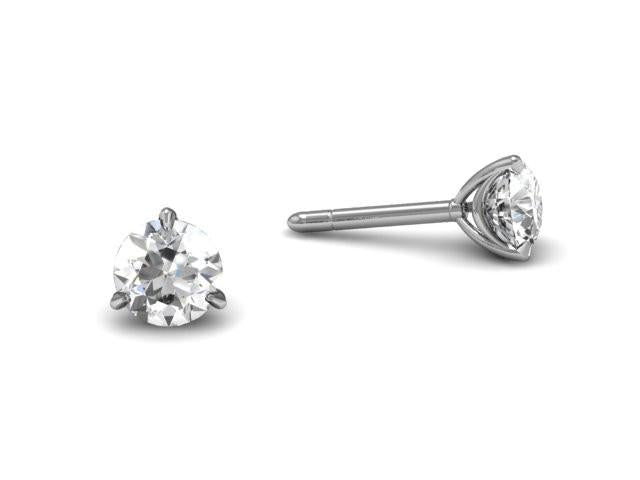 Bostonian Swag Diamond Stud Earrings