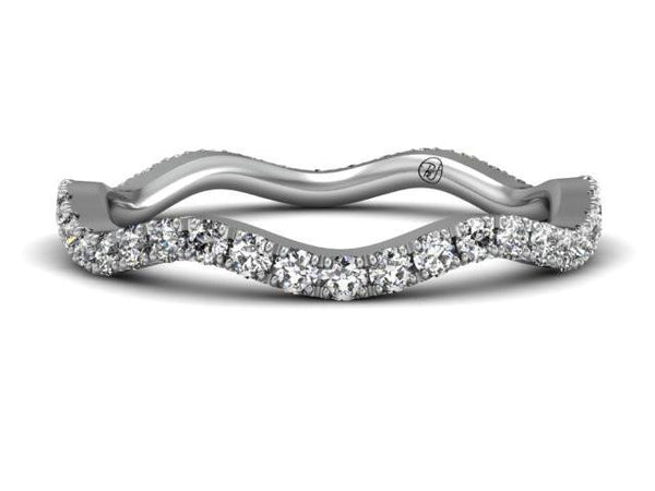 Creative Classic Pave Diamond Band Boston Custom Jewelers