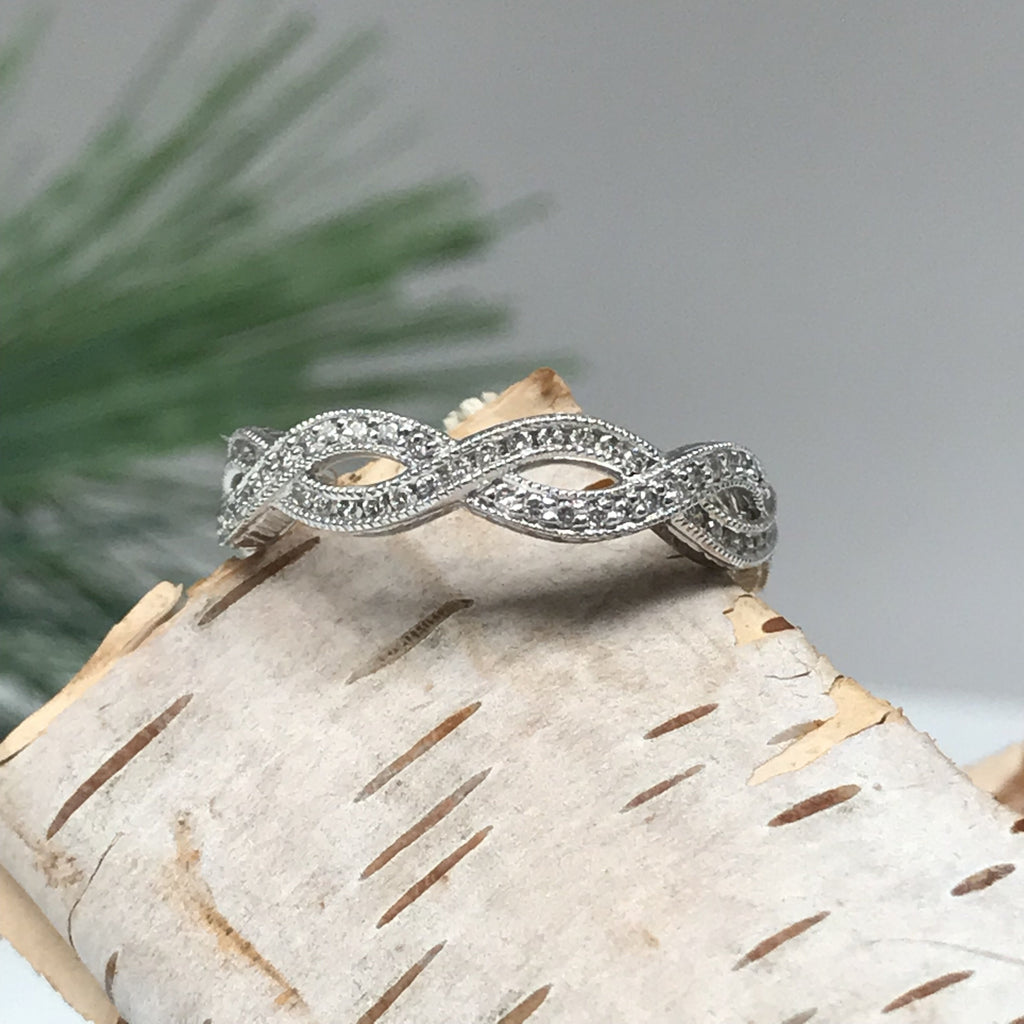 Crossover Diamond Eternity Band
