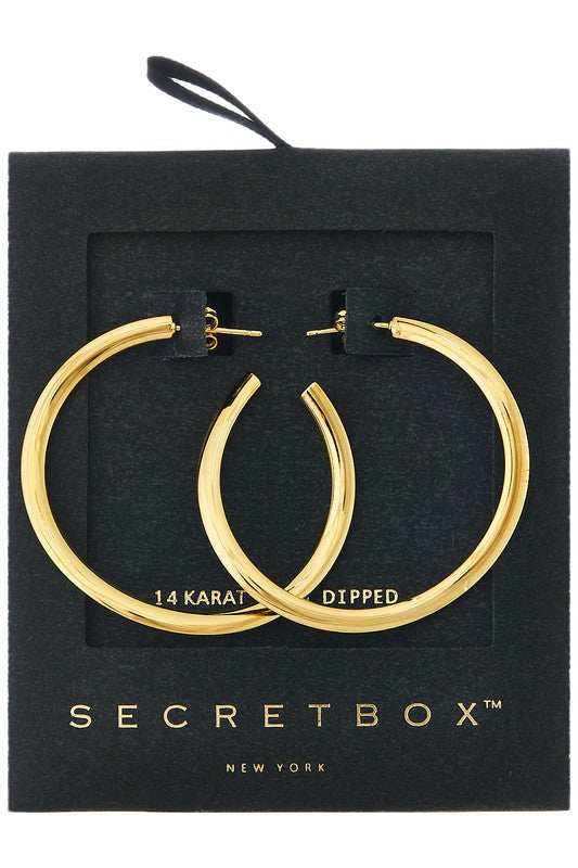 Gold Dipped Hoop Earrings