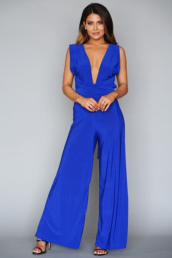 Multyway solid jumpsuit