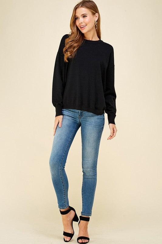 Soft Basic Black Sweater