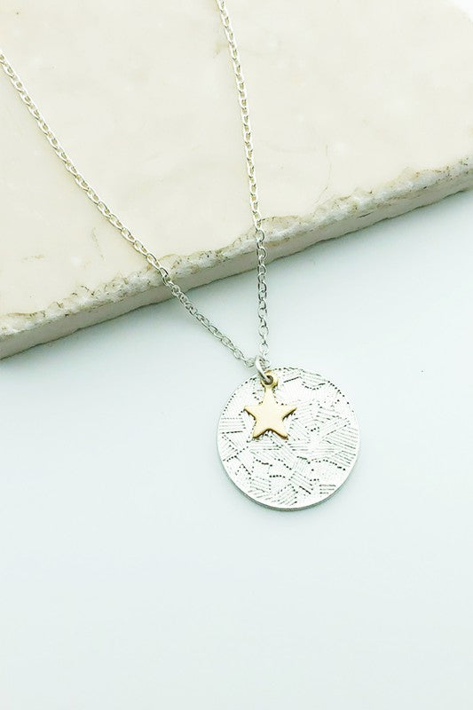 Star and Circle Necklace