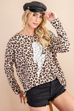 Leopard Print Lightning Bolt Top