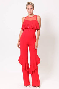 Pleat detailed jumpsuit