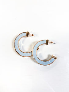 Leather color hoop earring